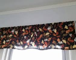 Fall Kitchen Curtains Fall Decor Etsy