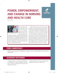 power empowerment and change in nursing and health care pdf