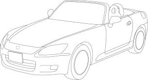 clipart honda s2000 outline