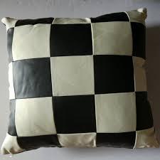plaid canapé noir pu de fourrure noir et blanc plaid canapé retour coussin de fourrure