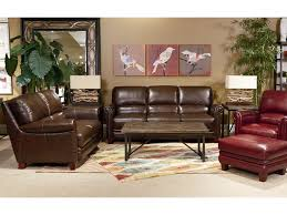 Leather Chair With Ottoman La Z Boy Julius Leather Chair And Ottoman Set With Bustle Back And