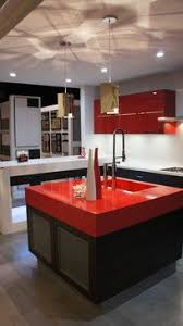 Red Kitchen Countertop - cool kitchen island red countertop blanco kitchen faucet