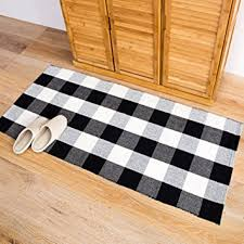 Checkered Area Rug Homcomoda Cotton Plaid Checkered Area Rug Braided