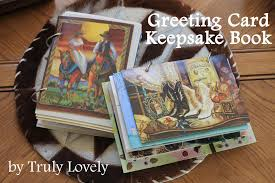 greeting card keepsake book