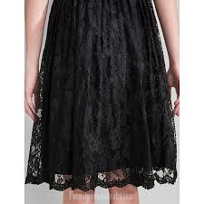 short knee length lace bridesmaid dress black plus sizes dresses