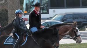 u s interior secretary rode to work on a horse youtube