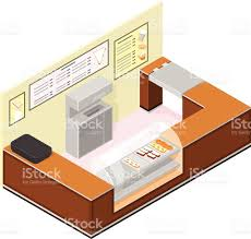 Coffee Shop Floor Plans Free Isometric Coffee And Cake Shop Counter Stock Vector Art 472310437