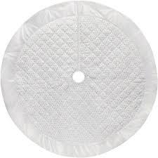 buy time white velvet dot tree skirt in cheap price on