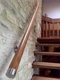 Stainless Steel Stair Handrails Oak Finish Wood U0026 Stainless Steel Stair Handrail Bannister Kit 2