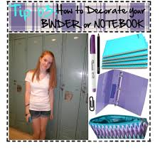 Tip 03 How to Decorate your Notebook Binder Polyvore