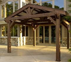 lodge pergola metal roof option roof metal outdoor greatroom