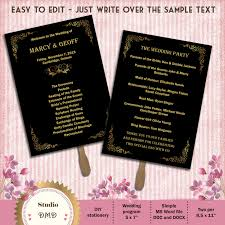 gold wedding programs wedding ideas deco wedding program freeart microsoft