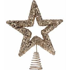 gold sequin tree topper dzd
