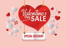 valentines sale big valentines day sale poster template vector illustration