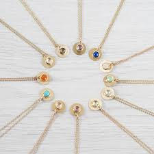 birthstone necklace personalised 9ct gold smokey quartz november birthstone necklace