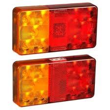 maxilite led rectangle boat trailer road trailer light set