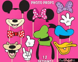 mickey mouse photo booth minnie mouse photo booth props minnie mouse birthday party