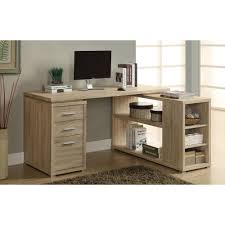Modern L Shape Desk by Alteza Espresso L Shaped Desk With Lock Drawer And File Drawer
