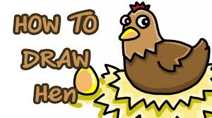 how to draw hen youtube