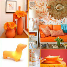 orange home decor interior design