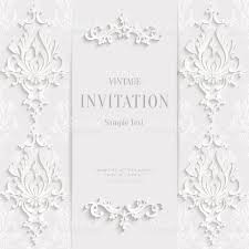 vector white christmas vintage invitation card with 3d floral