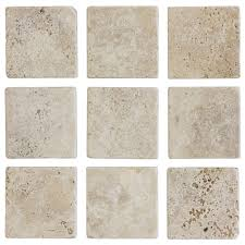 Wall Tiles by Jeffrey Court 4 In X 4 In Light Travertine Tumbled Wall Tile 9