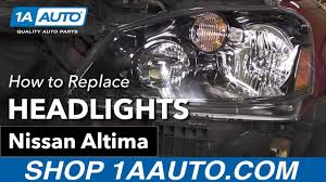 nissan altima 2005 parts how to replace install headlights 2005 06 nissan altima youtube