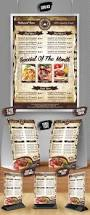 pizzeria menu table tent 2 table tents food menu and design