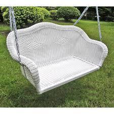 White Resin Wicker Loveseat Best 25 Wicker Swing Ideas On Pinterest Hanging Chair Stand