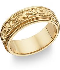 gold bands 18k gold paisley design wedding band ring