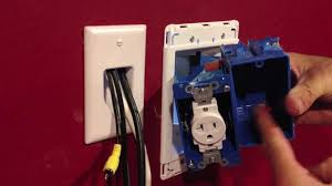 installing a recessed outlet box for wall mount tv u0027s youtube