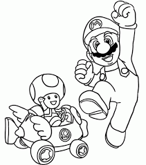 free printable mario coloring pages kids