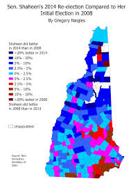New Hampshire State Map by Benchmarks For Hillary Clinton And Bernie Sanders For The 2016 New