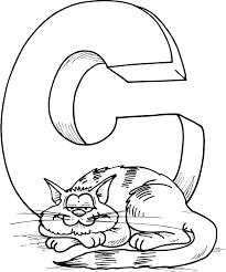 43 letter c color page letter c coloring page
