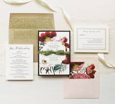 floral boho wedding invitations plum and gold wedding
