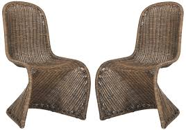 Wicker Chair Sea8009d Set2 Dining Chairs Furniture By Safavieh