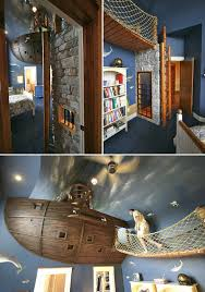kids room creative children room ideas feature adventure treehouse creative children room ideas feature pirate ship kids room rope net bridge deep sea mural ceiling