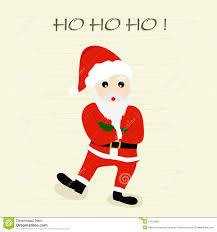 merry celebration with santa claus stock