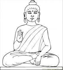 Statue Of Buddha Coloring Page Free Religions Coloring Pages Buddhist Coloring Pages