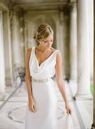 neck bridesmaid dress