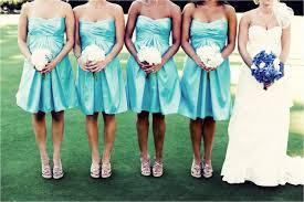 fancy soft aqua colored dresses for your bridesmaids wedding