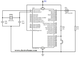 Rf Switch Matrix Schematic Diagrams Using Push Button Switch With Pic Microcontroller Ccs C