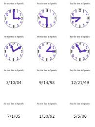 telling time in spanish worksheets with answers worksheets