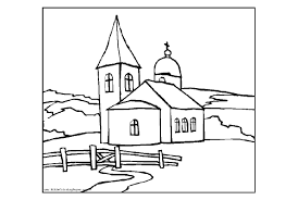 church coloring page youtuf com