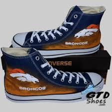 hand painted converse hi denver broncos from genuine touch