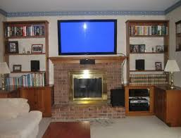 Mounting A Tv Over A Gas Fireplace by Mounting A Tv Over A Brick Fireplace Home Design Ideas