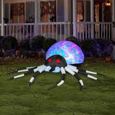 3 u0027 projection airblown inflatables kaleidoscope black white spider