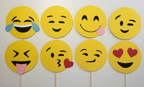 emoji photo booth props 8 piece set emojis smiley faces
