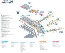Map Of Los Angeles Airports Prague Airport Terminal 1 Map