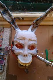 home made donnie darko u0027frank u0027 mask work in progress halloween